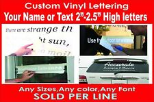 Personalized name text vinyl decal sticker custom letter car laptop window Boat