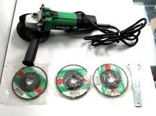 "Hitachi G12SR2 Angle Disc Grinder 4 1/2""  with 4 discs"