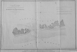 """1853 """"Entrance to Timballier Bay, Louisiana""""- Original electrotype"""