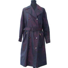 Authentic CHANEL Vintage CC Logos Long Sleeve Trench Coat Purple #40 AK12399