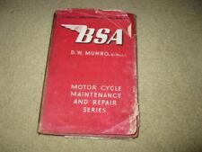 Bsa Motorcycle Maintenance & Repair Workshop Book Manual - Munro
