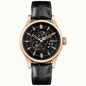Ingersoll The Armstrong Automatic Black Dial Leather Strap Men's Watch I06802