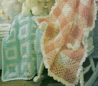 Baby Country Wraps Afghans Crochet Pattern INSTRUCTIONS from a magazine 2 design