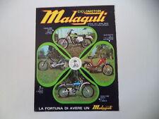 advertising Pubblicità 1974 MALAGUTI CAVALCONE CROSS 50 125/FIFTY/QUATTROTTO 50