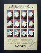 F131 - Advertising Pubblicità - 1992 - MOVADO COLLEZIONE 1881