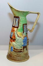 "RARE VINTAGE  E. RADFORD ART DECO HAND PAINTED PITCHER VASE 11"" TALL"
