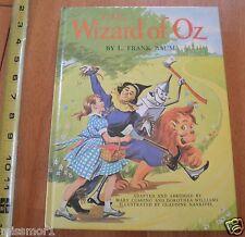 Vintage 1962 HB The Wizard of OZ Claudine Nankivel childrens book Grosset Dunlap