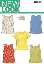 NEW Look Sewing Pattern Quick & Easy MISSES Tops 1 ora facile Taglia 6 - 16 6483