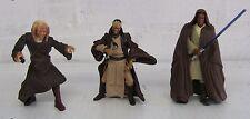"Hasbro Star Wars 3x Jedi 3 3/4"" Figure Set Agen Kolar, Saesee Tiin, Mace Windu"
