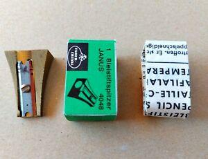 Faber Castell Janus 4048 Vintage Brass Pencil Sharpener Made in Germany