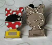 Minnie Mouse Trophy and Chaser 2019 Hidden Mickey Trophies DLR Disney Pin Set