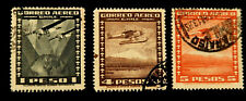 Chile Stamps Air Mail  1932-34 / Set of 3  /  Used