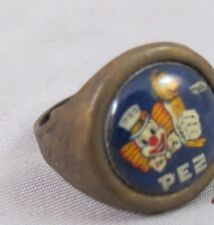 VINTAGE BRASS PEZ GUMBALL MACHINE RING gold adjustable candy usa made 60s 70s