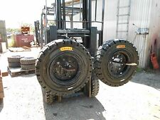 FORKLIFT TYRES 2 X 700X12 SOLID ON CHANGE OVER RIMS FOR TOYOTA