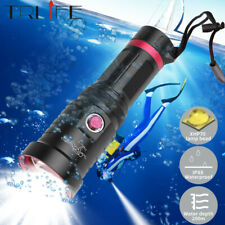 200000LM XHP70 Diving LED Flashlight Underwater 200m Diving Torch Lamp 18650