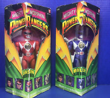 """New listing 2 Power Rangers 6"""" vintage action figure figures Red Jason & Blue Billy 1993"""