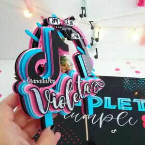 Tik Tok Personalised Cake Topper