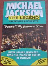 Michael Jackson UK Promo Poster Farewell My Summer Love