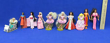 McDonalds Barbie Toy Cake Topper Christmas Asian Princess African European 10Pcs