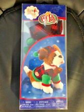 NIB- Elf Pets On The Shelf Dog Costume Outfit Plaid Suit and Hat- Free Shipping!