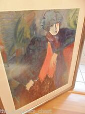 "Barbara A. Wood Large Lithograph ""The Blue Lady"" signed & numbered in pencil"