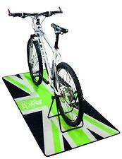 NEW EIGO CYCLE MAT WORKSHOP SERVICING FLOOR MAT GREEN UNION JACK BIKE ROAD MTB