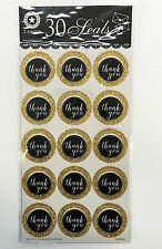 30pc Gold/White Thank You Seal Label Sticker on Party Wedding Birthday Gift Tags