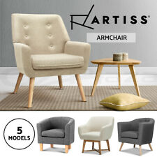 Artiss Armchair Lounge Chair Upholstered Accent Armchairs Tub Chairs Single Sofa