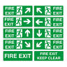 Fire Exit Sign Vinyl Sticker - All Sizes - Emergency Escape Fire Drill