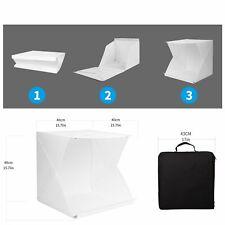 Portable Photo Studio Mini Booth LED Shooting Tent Folding Photography Light Box
