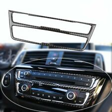 Carbon Fiber Interior Decal AC Console Control Panel Cover for BMW 3 4 Series