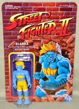 "BLUE BLANKA Street Fighter II Champion Variant ReAction Super7 3.75"" Figure"