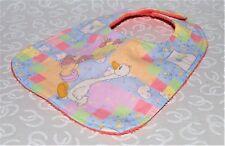 Handmade Precious Moments Girl Goose Baby Bib 100% cotton Terry Cloth Backing