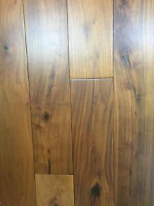 Solid Teak Wood Flooring UV Matt Lacquered 123mm x 18mm x R.L.(Sample) UK Stock