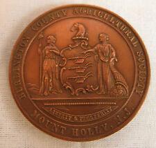 ANTIQUE AMERICAN BRONZE REWARD OF MERIT from MT. HOLLY, N.J. c. 1850