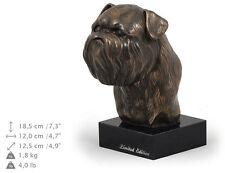 Griffon Bruxellois, dog bust marble statue, ArtDog , Ca