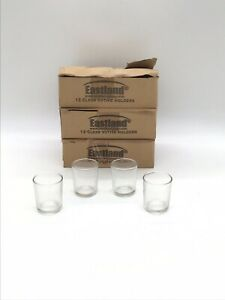 Eastland Votive Candle Holders Glass Clear 36 Pieces