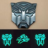 Metal Self- luminous Autobot Transformer Emblem Badge Decals Logo Glow in Dark