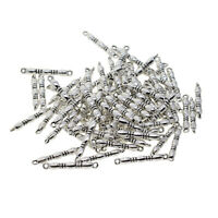 100pcs Tibetan Silver Straight Bar Connectors Jewelry Making Findings Charms