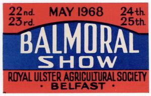 (I.B) Northern Ireland Cinderella : Balmoral Show (Belfast 1968)