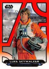 Star Wars Galactic Files (2018) ORANGE PARALLEL BASE ESB-20 / LUKE SKYWALKER
