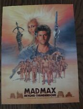 MAD MAX BEYOND THUNDERDOME poster & credits 1985 Mel Gibson Tina Turner