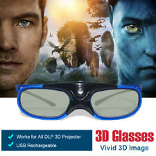 Active 3D Glasses USB Rechargeable for DLP 3D Projector Optoma EW531 EW536 Sony