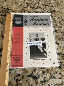 Oakland Raiders vs Chiefs 1963 Program Review Ex Cond NFL AFL HOF Al Davis