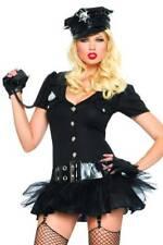 4-tlg. Police Officer Straps-Minikleid schwarz