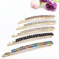 Fashion Women's Crystal Rhinestone Hair Clip Hairpin Barrette Bobby Pin Jewelry.