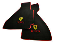 Floor Mats For Ferrari 328 GTB 1985-1989 Tailored Emblem Carpets With Red Rounds