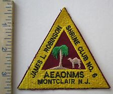 SHRINE CLUB No.6 AEAONMS MONTCLAIR NJ - ORIGINAL Vintage SHRINER MASONIC PATCH