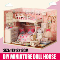 1:24 DIY Dollhouse Miniature Kits Wooden Handmade CreativeHouse Toys For  !Y