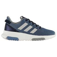 adidas Kids Cloudfoam Racer Childs Trainers Runners Lace Up Knit Knitted
